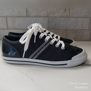 Almost like new. COACH folly black / gray sneakers